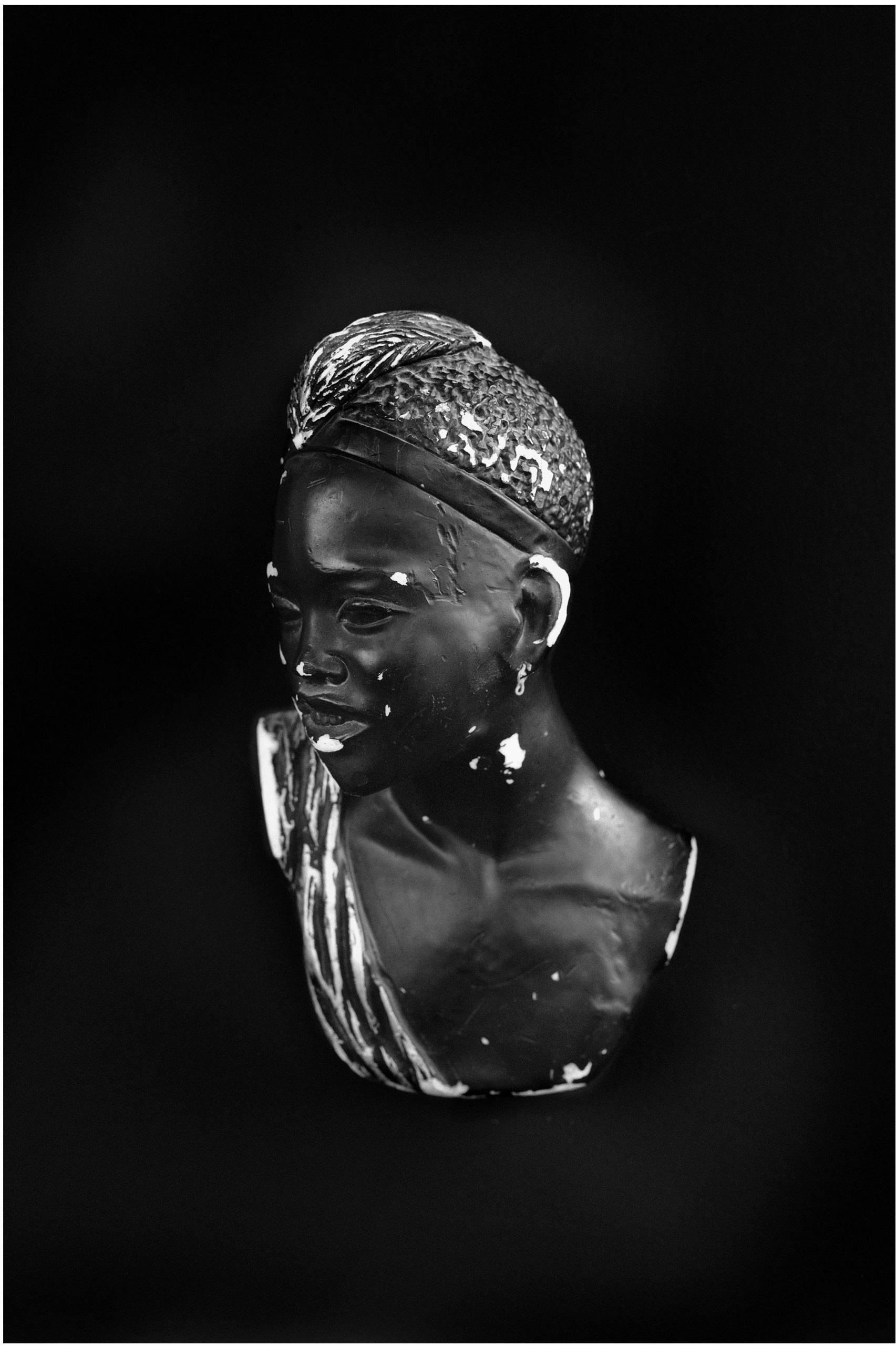 David Adika, Untitled (Alikma, Photogram no. 001) from Black Market, BW Photography 36x54 cm