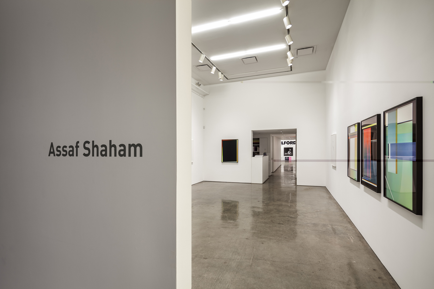 Assaf Shaham, Division of the Vision, Installation View, Yossi Milo Gallery, New York, 2015