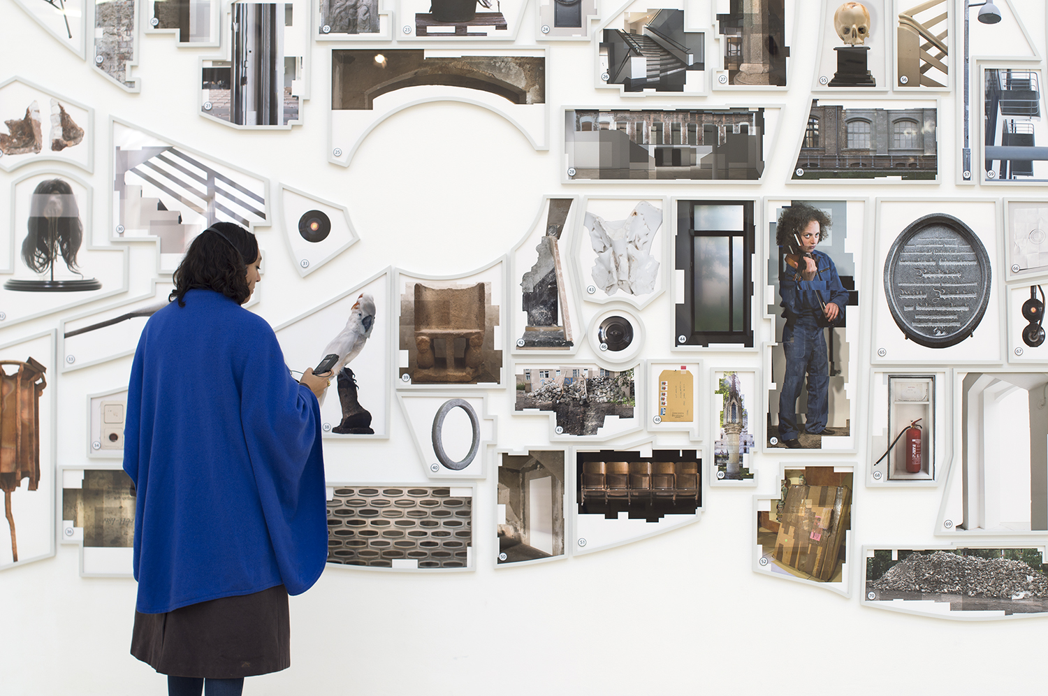 Ilit Azoulay, Shifting Degrees of Certainty, 2014, installatiov view MoMA New York Ocean of Images: New Photography 2015