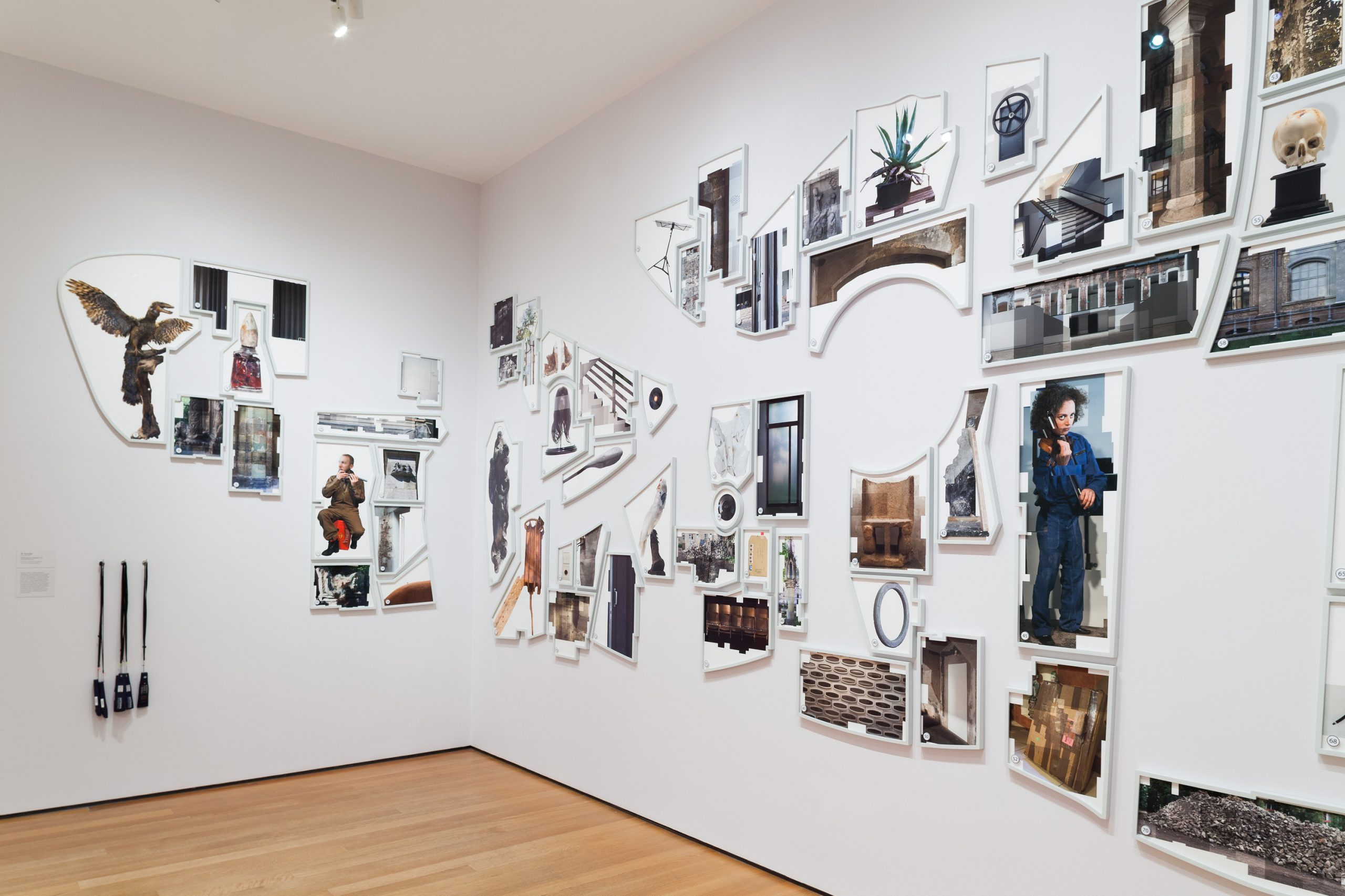 Ilit Azoulay, Shifting Degrees of Certainty, 2014, installatiov view MoMA New York, Ocean of Images: New Photography 2015