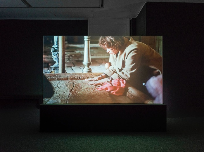 Nira Pereg, The right to clean, 2015, Multi Channel Video installation, Installation at Anna Ticho House, The Israel Museum