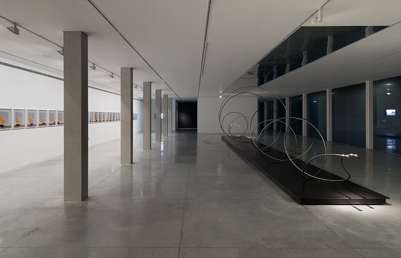 Robin Rhode, Installation shot from Under the Sun at the Tel Aviv Museum of Art, Photo by Elad Sarig