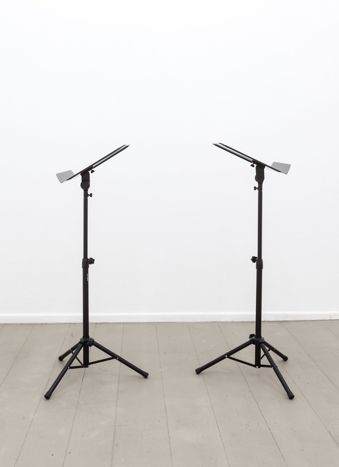 Ari Benjamin Meyers, Duet, 2014, 2 scores on paper, 2 musicstands, pdf file, instructions, 31.5x24 cm each (score)