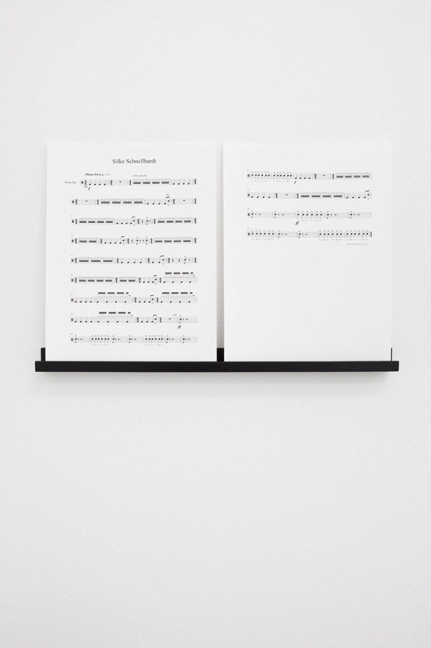 Ari Benjamin Meyers, Portrait (Title to be adjusted), 2013, score on paper, pdf file, black wooden display rail (optional), 31.5x24 cm (score)