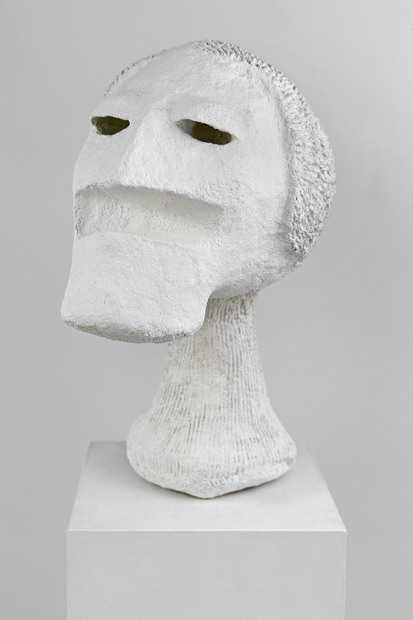 Tommy Hartung, White Devil #8, 2016, celluclay and varnish, 48.3 x 22.9 x 25.4 cm