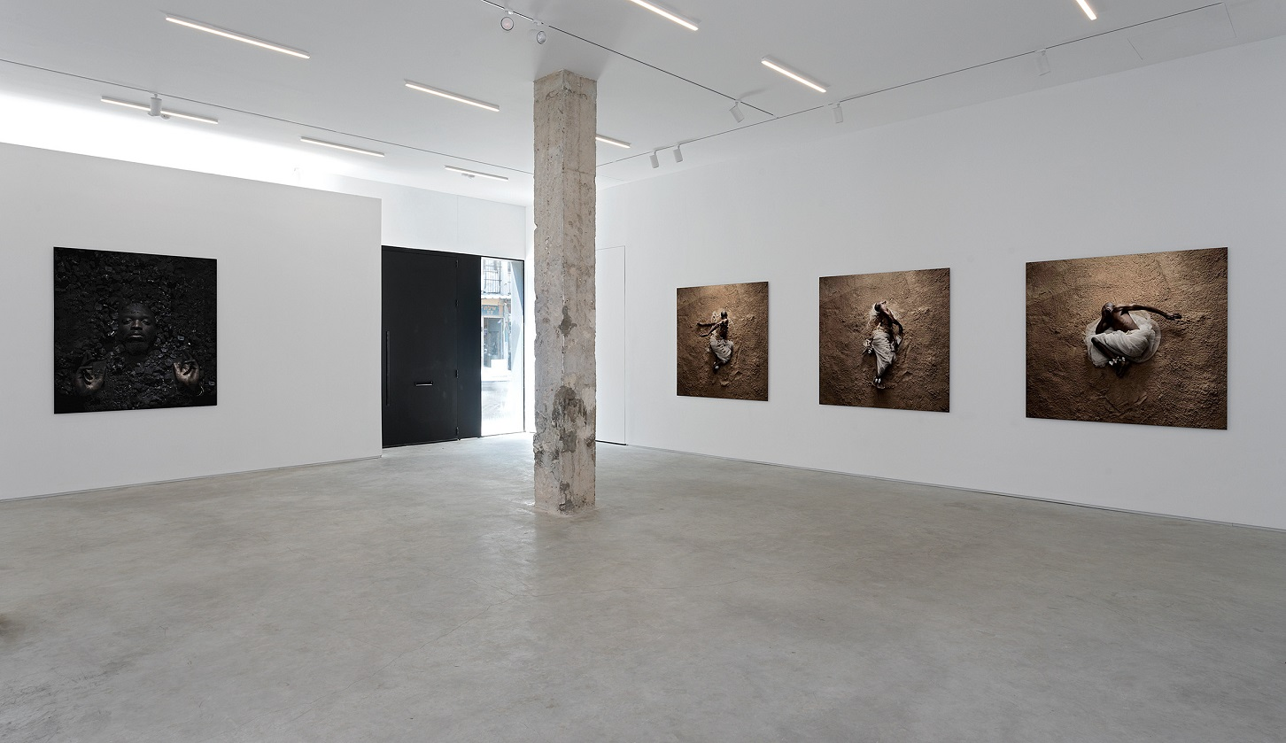 Mohau Modisakeng, Braverman Gallery, 2020. Photo by Elad Sarig