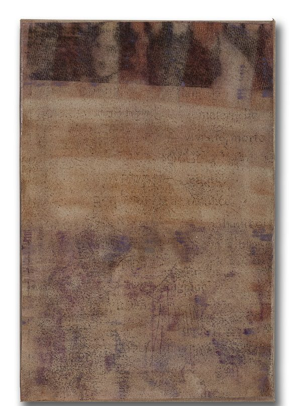 Bracha L. Ettinger, Eurydice n.35, 1994-98-2001, oil and carbon dust on paper mounted on canvas, 44.5 x 28 cm