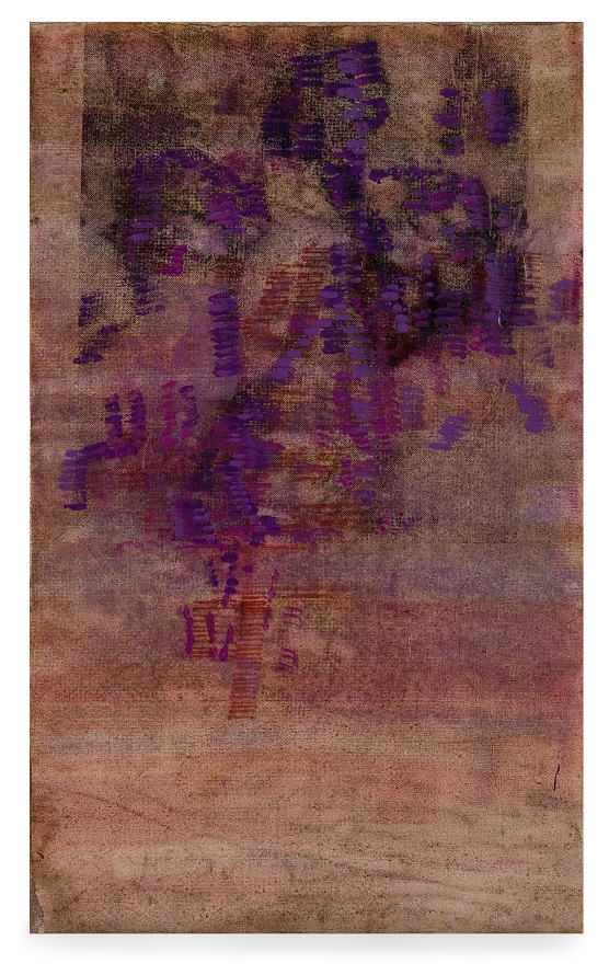 Bracha L. Ettinger, Eurydice n.3, 1998-2001, oil and carbon dust on paper mounted on canvas, 44.5 x 28 cm