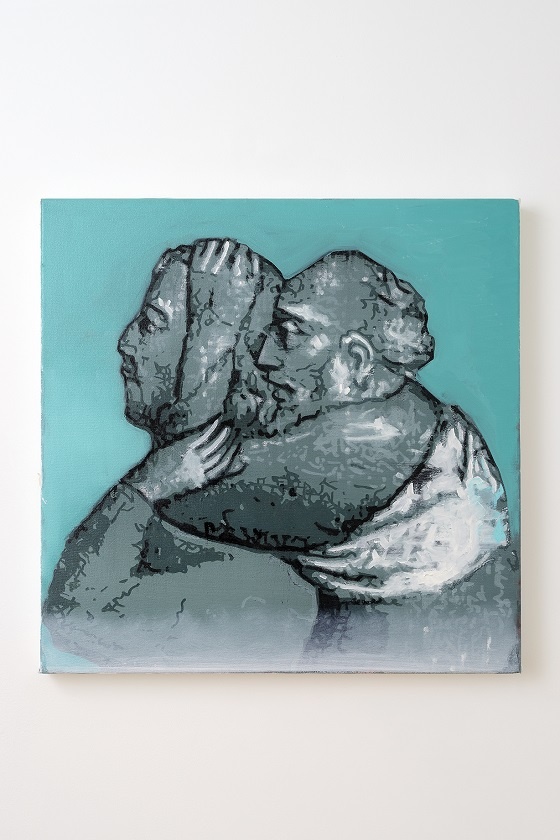 Oren Eliav, Carry Over, 2020, oil on canvas, 70 x 70 cm