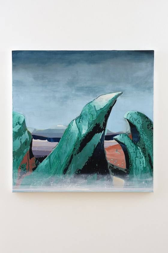 Oren Eliav, Curve, 2020, oil on canvas, 100 x 100 cm