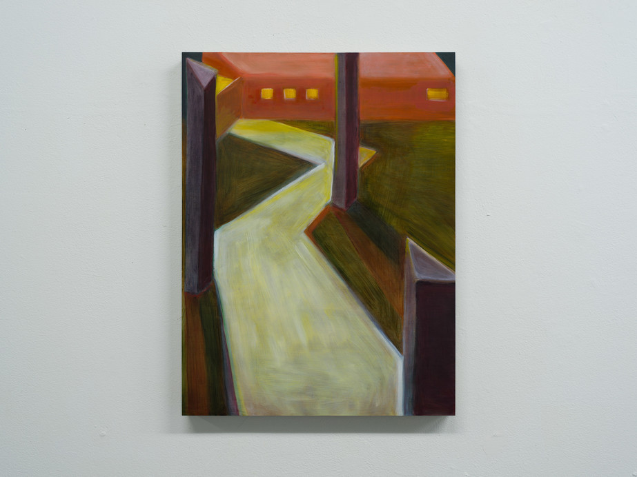 Damien H. Ding, Path, 2019, oil on panel, 20.3 x 61 cm