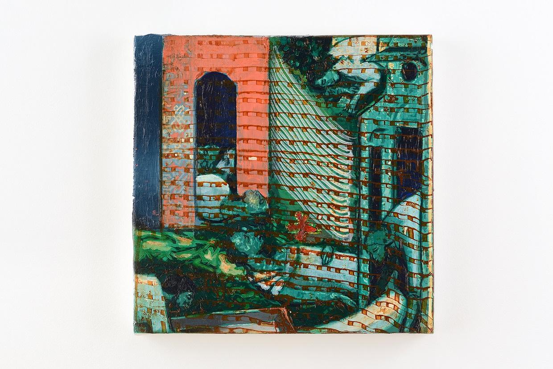 Oren Eliav, Elevation (First  Dream), 2020, oil on canvas, 50 x 50 cm