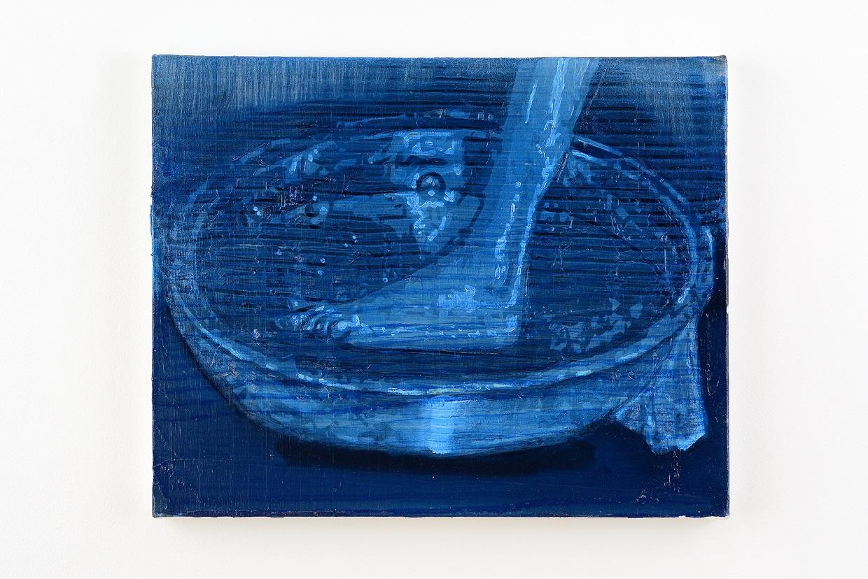Oren Eliav, Foot, 2020, oil on canvas, 40 x 50 cm
