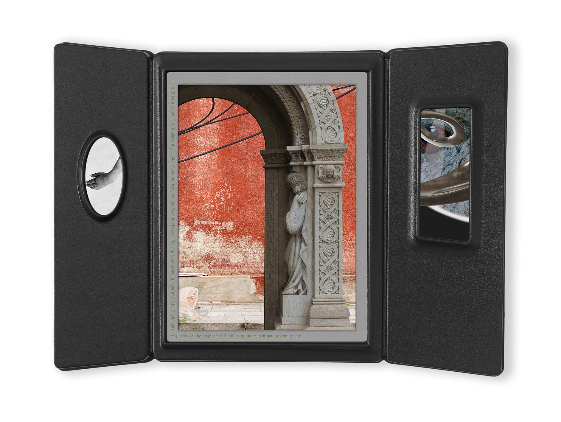 Catherine (case 1001) 2020, inkjet prints, acrylic face mount, vacuum formed frame, 51.5x70x5 cm