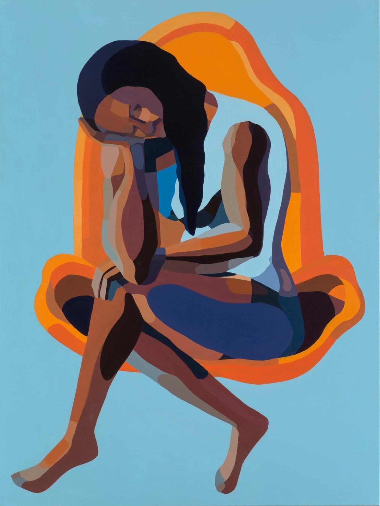 Nirit Takele, Untitled, 120x90 cm, acrylic on canvas, 2017