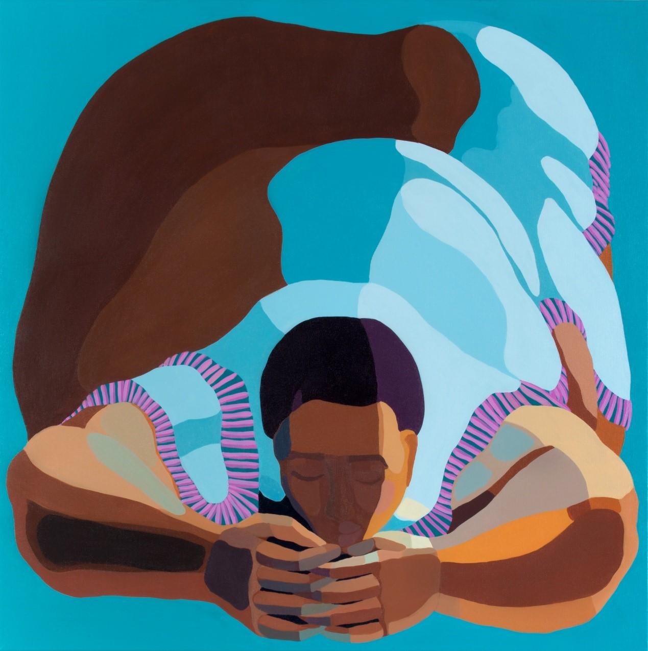 Nirit Takele, Untitled, 80x80 cm, acrylic on canvas, 2018