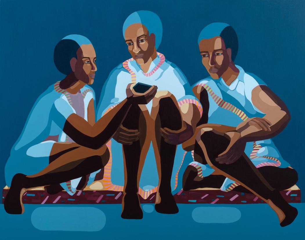 Nirit Takele, Three views, 110.5x140 cm, acrylic on canvas, 2018