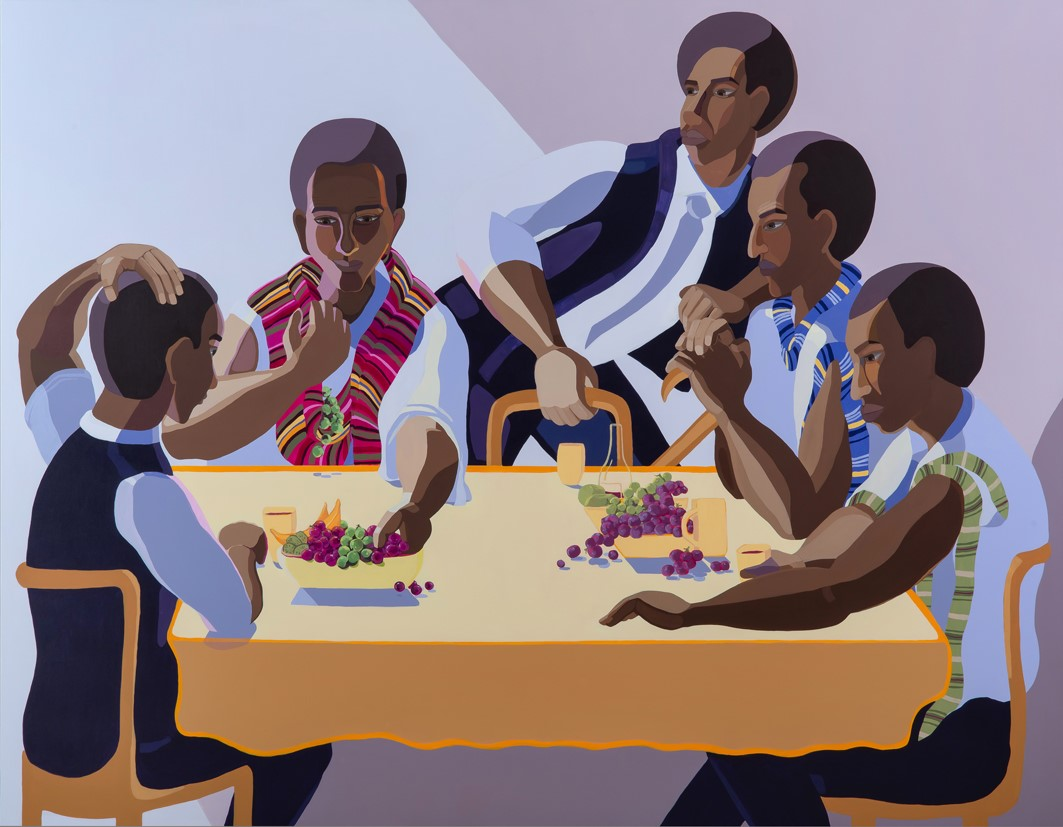 Nirit Takele, The invited guest, 165x210 cm, acrylic on canvas, 2018