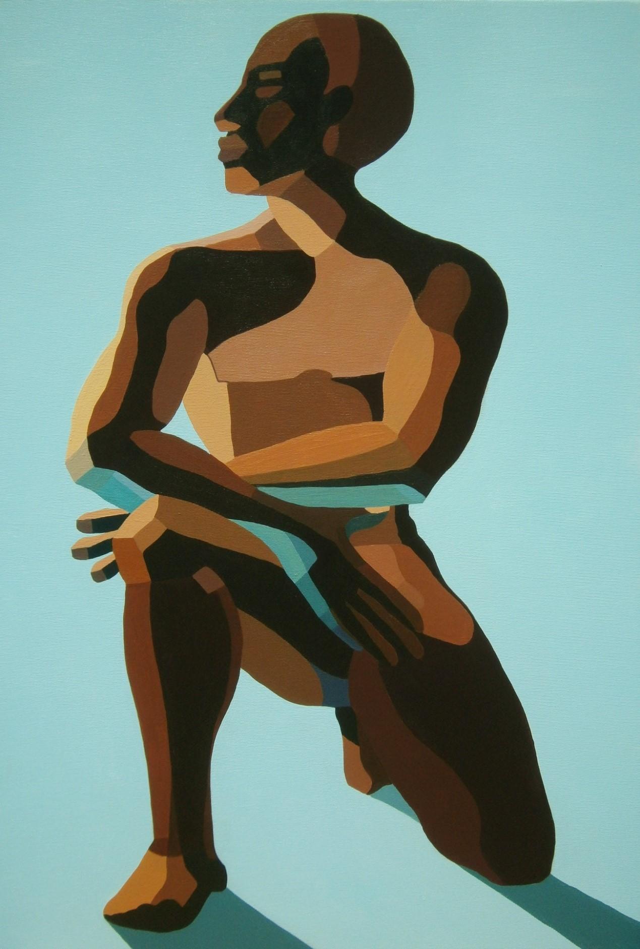 Nirit Takele, Justice for Yosef Salamsa, 75x55 cm, acrylic on canvas, 2016
