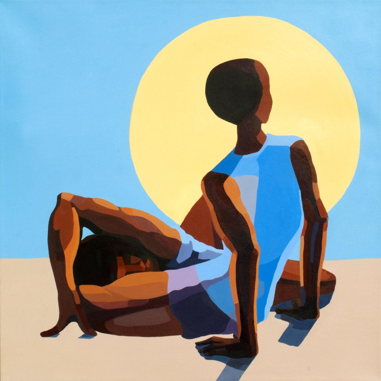 Nirit Takele, Untitled, 80x80 cm, acrylic on canvas, 2016