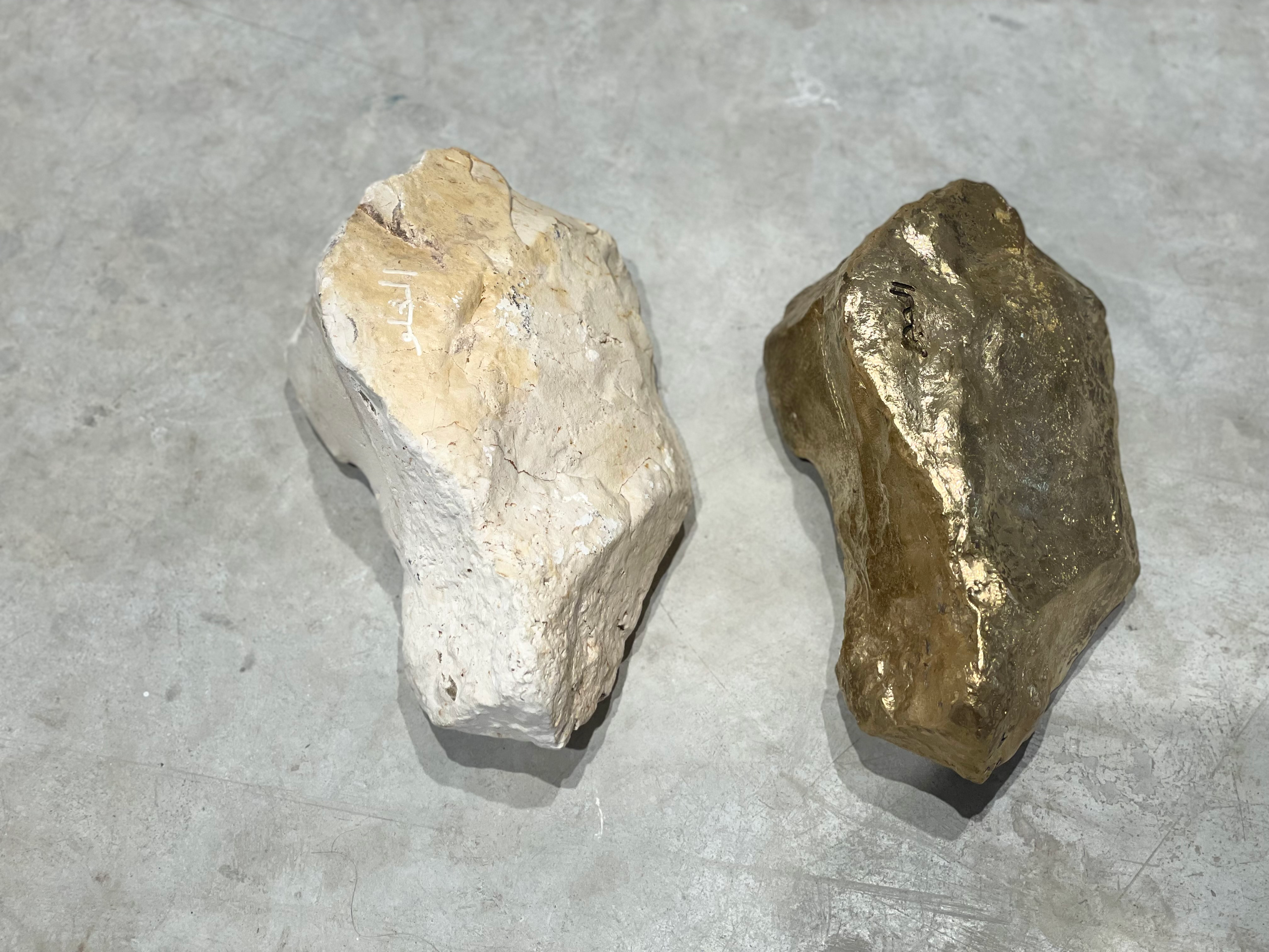 SWEET STONES  الحجر الحلو 2018—2021 Five lime stones and their five brass replicas
